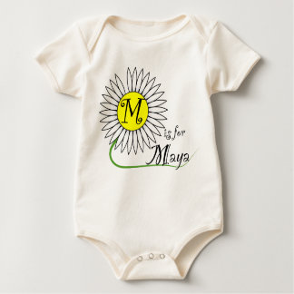 M is for Maya Daisy Baby Bodysuits
