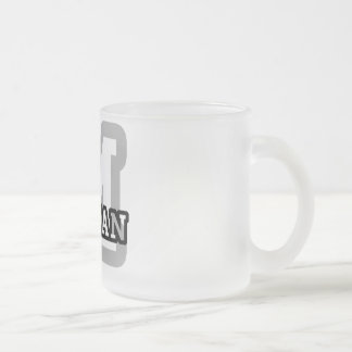 M is for Meghan Frosted Glass Coffee Mug