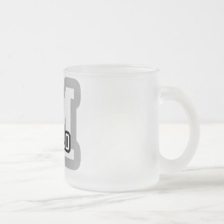 M is for Melo Frosted Glass Coffee Mug