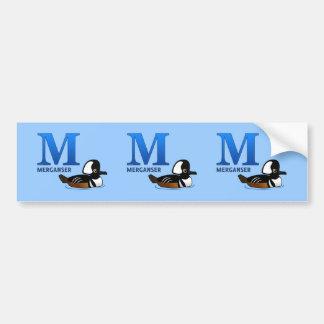 M is for Merganser Bumper Sticker