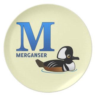 M is for Merganser Dinner Plate