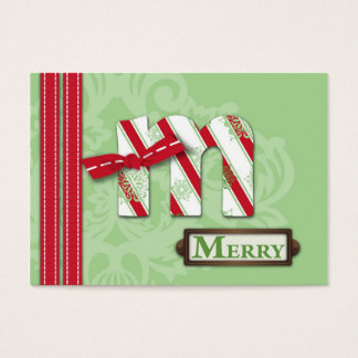 M is for Merry Gift Tag
