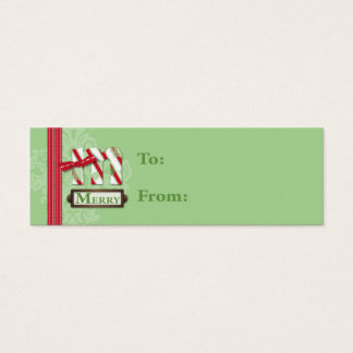 M is for Merry Skinny Gift Tag