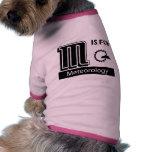M Is For Meteorology Doggie Tee