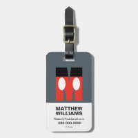 M is for Mickey | Add Your Name Bag Tag