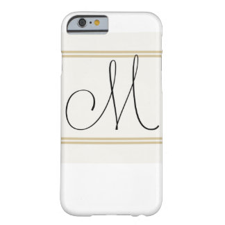 M is for Mighty Fine, Iphone Monogram Barely There iPhone 6 Case