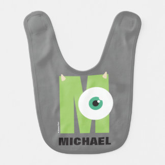 M is for Mike | Add Your Name Baby Bib