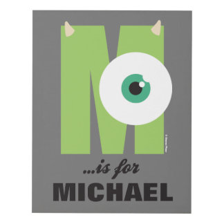 M is for Mike   Add Your Name Panel Wall Art
