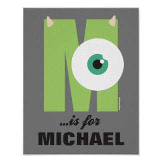 M is for Mike | Add Your Name Poster