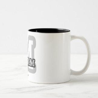 M is for Miriam Two-Tone Coffee Mug