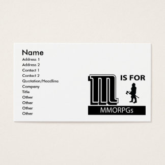 M Is For MMORPGs Business Card