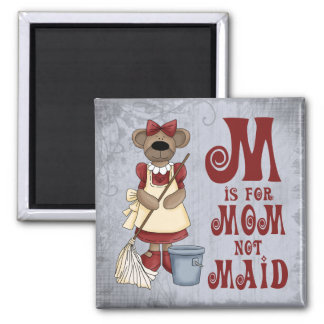 M is for Mom 2 Inch Square Magnet
