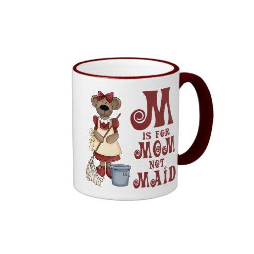 M is for Mom Ringer Coffee Mug