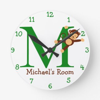 M is for Monkey and Michael-Child's Bedroom