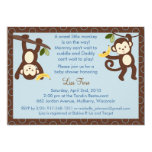 M is for Monkey Jungle Baby Shower Invitations