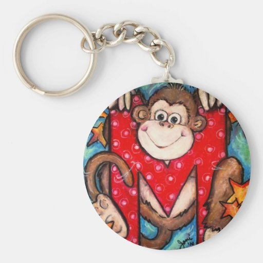 M is for Monkey Key Chain