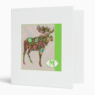 M is for Moose 3 Ring Binder