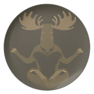 M is for Moose Dinner Plate