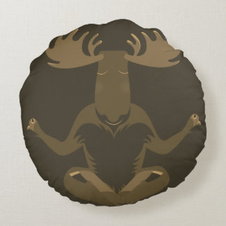 M is for Moose Round Pillow