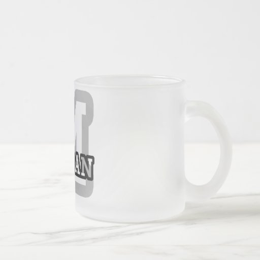 M is for Morgan 10 Oz Frosted Glass Coffee Mug