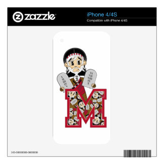 M is for Moses and the Ten Commandments iPhone 4S Decals