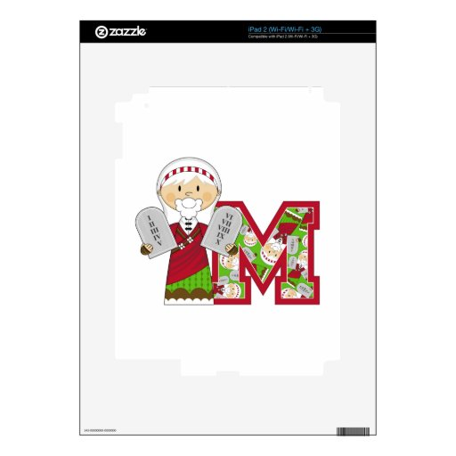 M is for Moses and the Ten Commandments Skin For The iPad 2