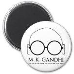 M.K. Gandhi - sea el cambio Imán Para Frigorífico