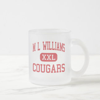 M L Williams - Cougars - Junior - Oakland Maine Frosted Glass Coffee Mug