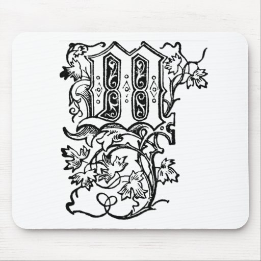M - La letra decorativa M Tapetes De Ratones