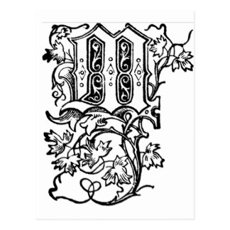 M - La letra decorativa M Tarjetas Postales