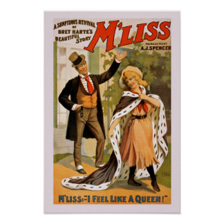 M' Liss I feel like a Queen Vintage Poster