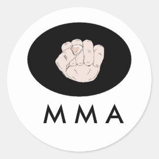 M M A Design Classic Round Sticker