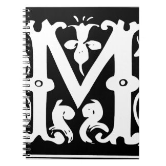M-M letter Message for love Spiral Note Book