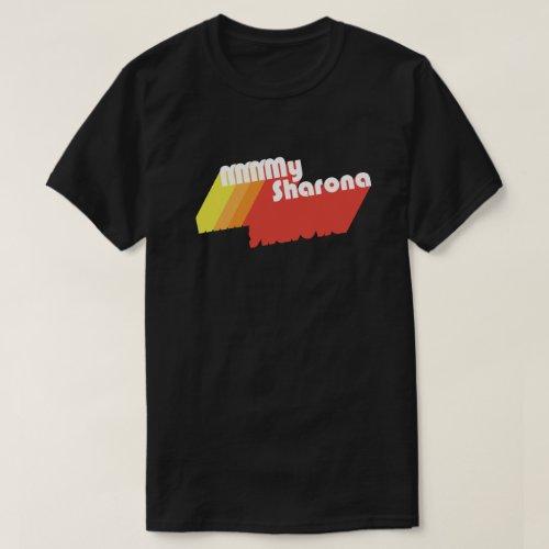 M_M_M_My Sharona Retro Typography Dark T_Shirt