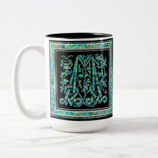 """M """"Masselle Blue"""" Custom Monogram Mugs"""