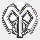 m melty (copia) etiqueta redonda