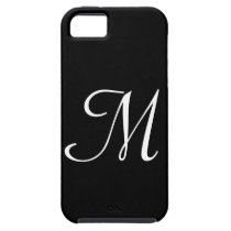 M Monogram Black IPhone 5 Case
