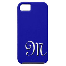 M Monogram Blue IPhone 5 Case