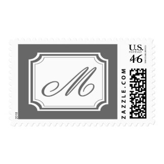 M Monogram (Gray Fancy) Stamps