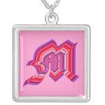 M monogram jewelry