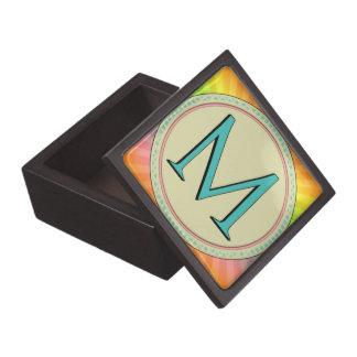 M MONOGRAM LETTER PREMIUM TRINKET BOX