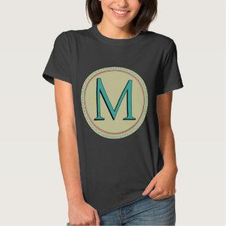 M MONOGRAM LETTER SHIRT