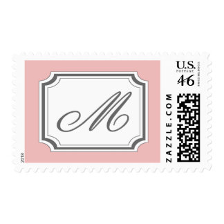 M Monogram (Pale Pink Fancy) Stamps