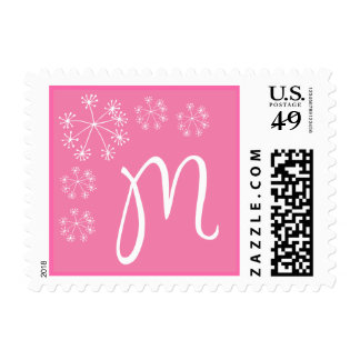 M Monogram (Pink Dill Flower) Stamps