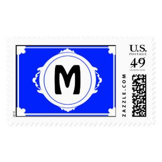 M Monogram Postage Stamp