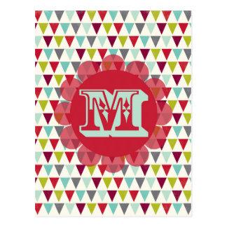 M Monogram Post Card