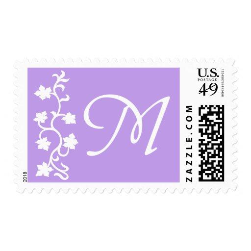 M Monogram (Purple Vine) Stamps