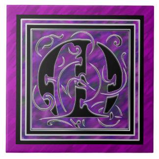 M Monogram Purple Waters Ceramic Tiles Ceramic Tiles