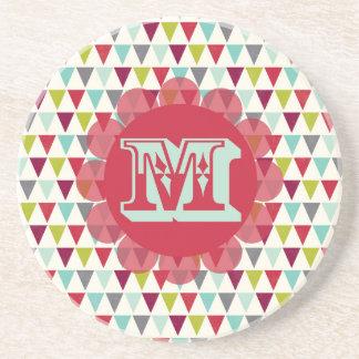M Monogram Sandstone Coaster