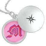M monogram Sterling Silver Custom Jewelry